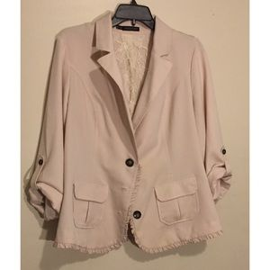 Maurices Blazer, Cream Colored, Plus Size, Size 0